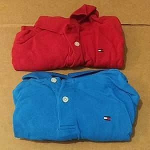 Red and Blue TOMMY Hilfiger Polos